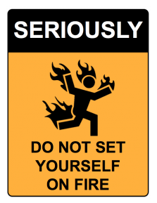 seriously-on-fire-wall-sign