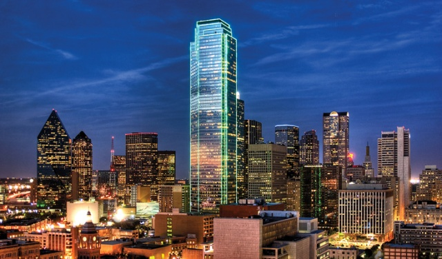 Dallas-lights-at-Sunset